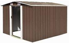 vidaXL Garden Shed Metal 257x298x178 cm Brown -