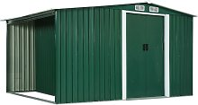 vidaXL Garden Shed with Sliding Doors Green