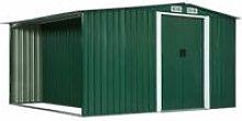 Vidaxl - Garden Shed with Sliding Doors Green