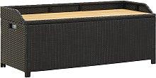 vidaXL Garden Storage Bench 120 cm Poly Rattan