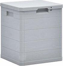 vidaXL Garden Storage Box 90L Light Grey Garden