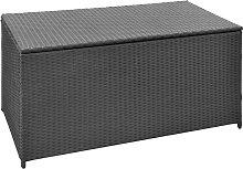 vidaXL Garden Storage Box Black 120x50x60 cm Poly