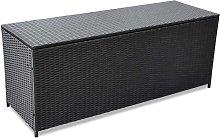vidaXL Garden Storage Box Black 150x50x60 cm Poly