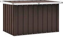 vidaXL Garden Storage Box Brown 109x67x65 cm