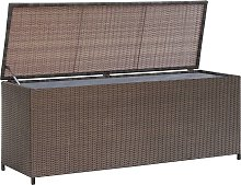 vidaXL Garden Storage Box Brown 120x50x60 cm Poly