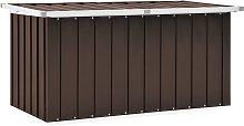 vidaXL Garden Storage Box Brown 129x67x65 cm
