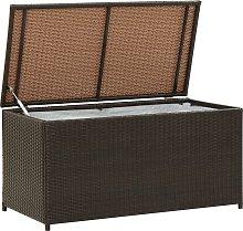 vidaXL Garden Storage Box Poly Rattan 100x50x50 cm