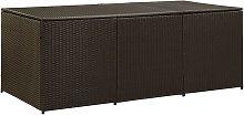 vidaXL Garden Storage Box Poly Rattan 180x90x75 cm