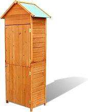 vidaXL Garden Storage Cabinet Brown 79x49x190 cm