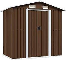 vidaXL Garden Storage Shed Brown 204x132x186 cm