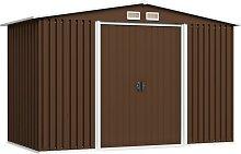 vidaXL Garden Storage Shed Brown 257x205x178 cm