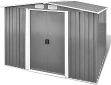 vidaXL Garden Storage Shed Grey