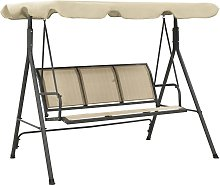 vidaXL Garden Swing Chair with Canopy Anthracite