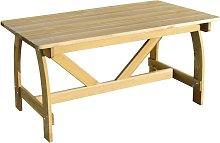 vidaXL Garden Table 150x74x75 cm Impregnated