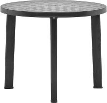 vidaXL Garden Table Anthracite 89 cm Plastic