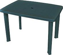 vidaXL Garden Table Green 101x68x72 cm Plastic