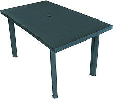 vidaXL Garden Table Green 126x76x72 cm Plastic