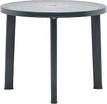 vidaXL Garden Table Green 89 cm Plastic