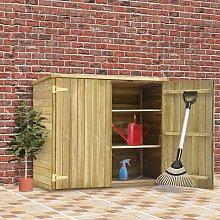 vidaXL Garden Tool Shed 135x60x123 cm Impregnated