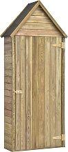 vidaXL Garden Tool Shed with Door 77x28x178 cm