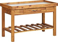 vidaXL Garden Work Bench with Zinc Top Solid