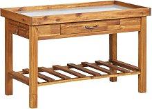 vidaXL Garden Work Bench with Zinc Top Solid