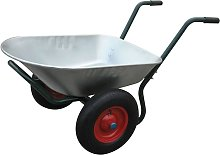vidaXL Gardening Tool Wheelbarrow Two Wheels 66 L