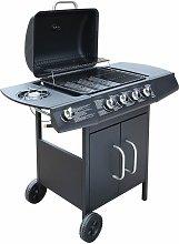 vidaXL Gas Barbecue Grill 4+1 Cooking Zone Black -