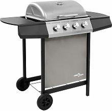 vidaXL Gas BBQ Grill with 4 Burners Black and