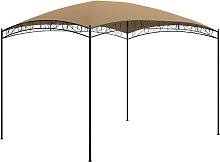 vidaXL Gazebo 3x4x2.65 m Taupe 180 g/m²