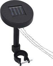 vidaXL Gazebo LED String Lights with Solar Panel