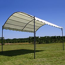 vidaXL Gazebo Roof Beige 4x3 m Fabric