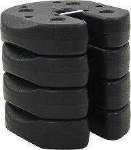 vidaXL Gazebo Weight Plates 4 pcs Black 220x30 mm