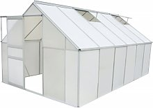 vidaXL Greenhouse Polycarbonate and Aluminium