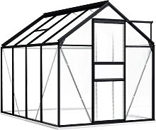 vidaXL Greenhouse with Base Frame Anthracite