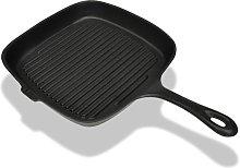 vidaXL Grill Pan Cast Iron 24x23 cm