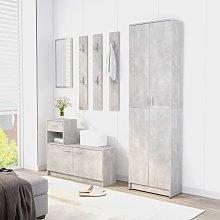 vidaXL Hallway Furniture Set Concrete Grey Chipboard