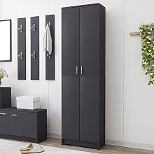 vidaXL Hallway Wardrobe Grey 55x25x189 cm Chipboard