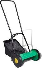 vidaXL Hand Push Lawn Mower 30 cm with Grass
