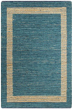 vidaXL Handmade Rug Jute Blue 80x160 cm - Blue