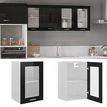 vidaXL Hanging Glass Cabinet High Gloss Black