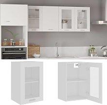 vidaXL Hanging Glass Cabinet White 40x31x60 cm