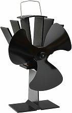 vidaXL Heat Powered Stove Fan Black 3 Blades -