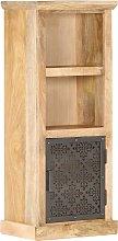 vidaXL Highboard with Door 45x32x110 cm Solid Mango Wood