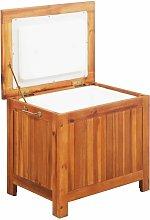 vidaXL Ice Box Solid Acacia Wood 63x44x50 cm -