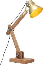 vidaXL Industrial Desk Lamp Brass Round 58x18x90