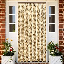 vidaXL Insect Curtain Beige and Brown 56x185 cm