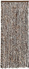 vidaXL Insect Curtain Brown and White 56x185 cm