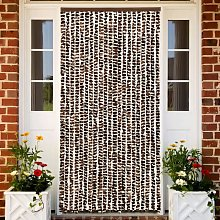 vidaXL Insect Curtain Brown and White 90x220 cm