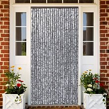 vidaXL Insect Curtain Chenille Brown and Beige